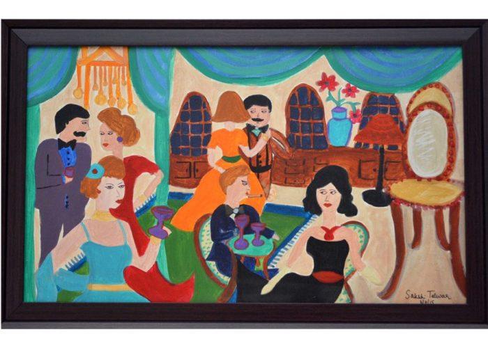 One-Night-in-the-ballroom Sakshi Talwar, Acrylic on Canvas, 34 x22, $1750