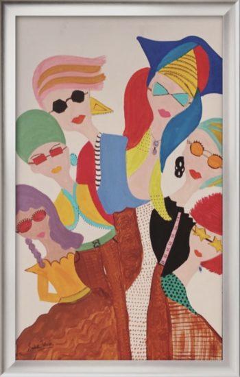 Uni-body Glamor, Sakshi Talwar, Acrylic on Canvas, 20 x32