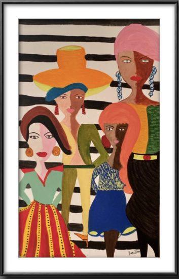 United Colors of Women, Sakshi Talwar, Acrylic on Canvas, 20 x32